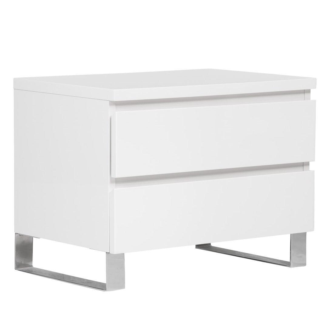 nachtkommode bianco i hochglanz wei nachtkonsole. Black Bedroom Furniture Sets. Home Design Ideas