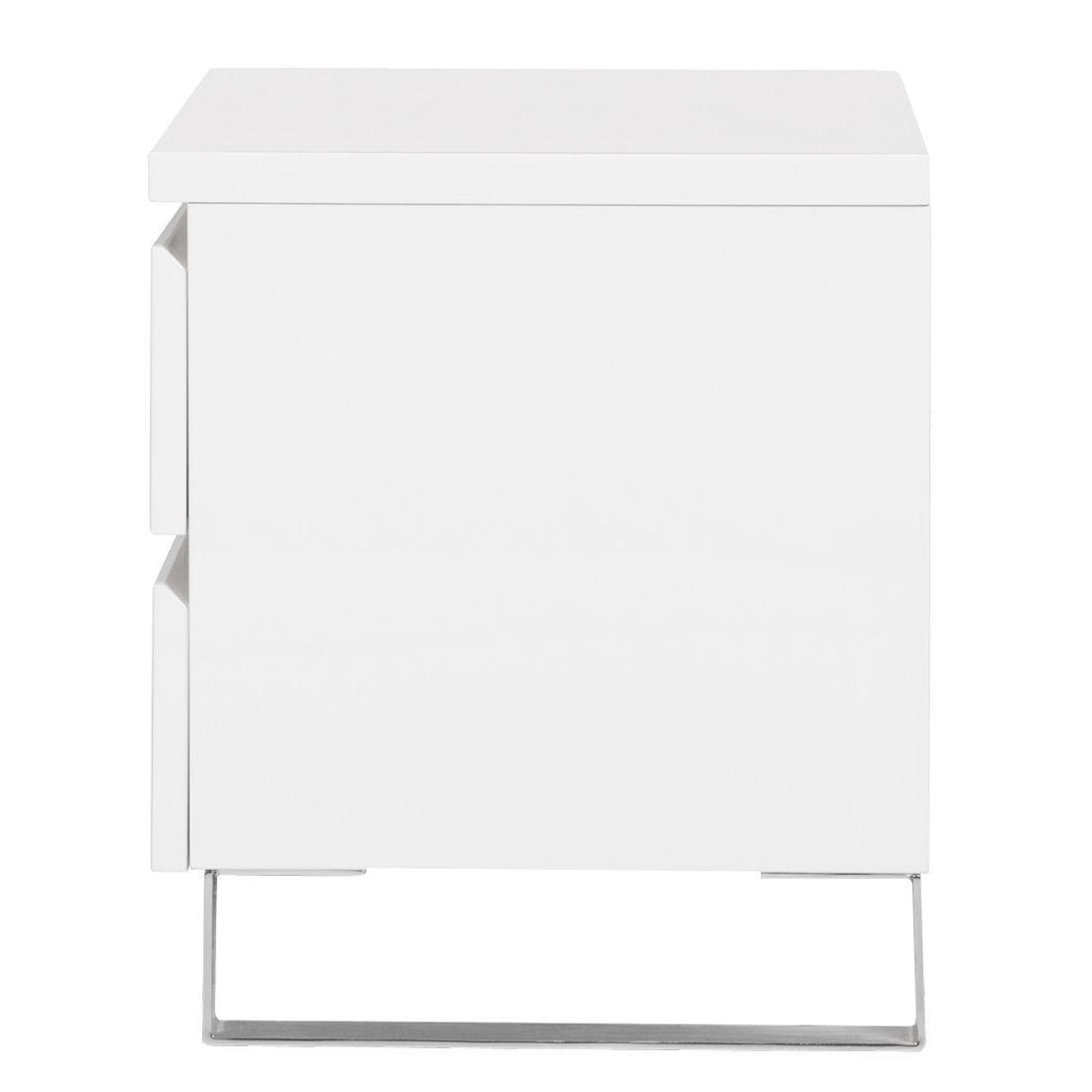 nachtkommode bianco i hochglanz wei nachtkonsole beistelltisch nachttisch ebay. Black Bedroom Furniture Sets. Home Design Ideas