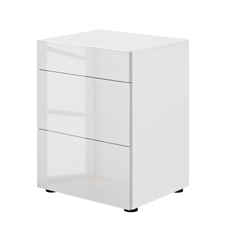 Nachtkommode Pure II – Weiß – Hochglanz Weiß, Arte M online bestellen