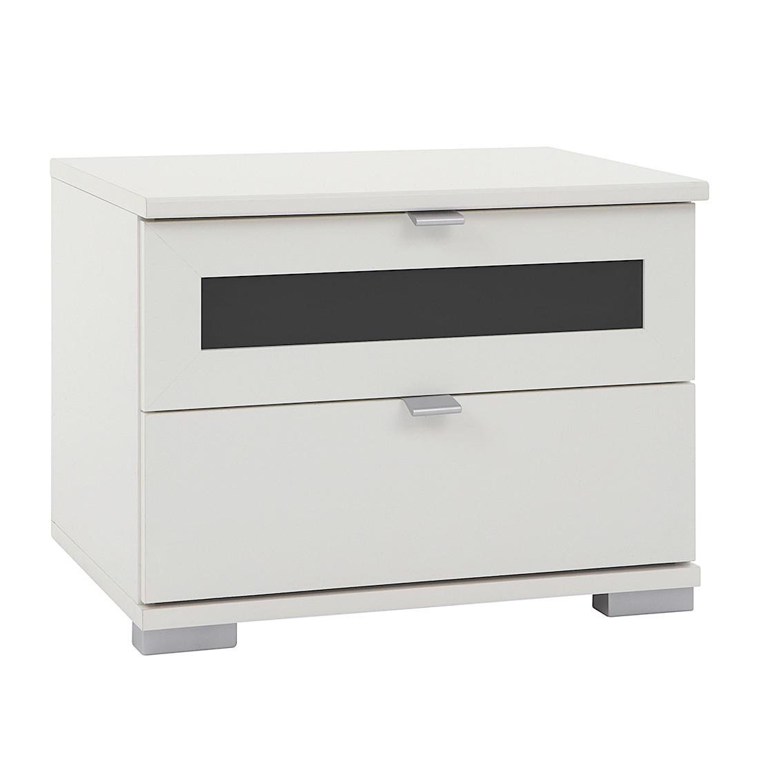 Nachtschrank Box Plus I – Alpinweiß/Schwarz – 2 Nachtschrank, Wimex günstig bestellen