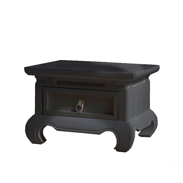 Nachtschrank Feng-Shui – massive Pinie – gebeizt & schwarz lackiert, Landhaus Classic günstig online kaufen