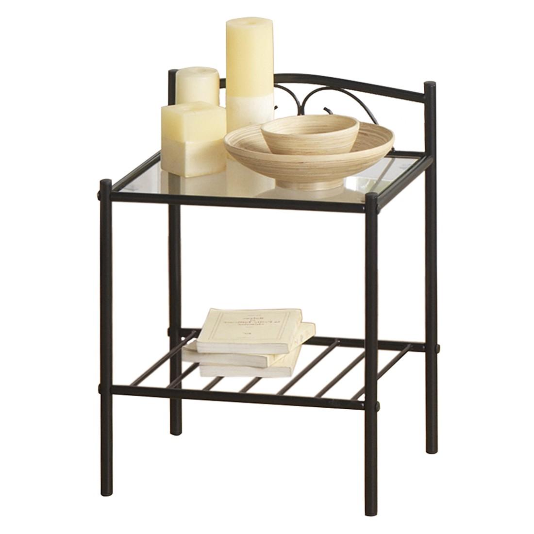 nachttisch cama metall schwarz gl nzend ebay. Black Bedroom Furniture Sets. Home Design Ideas