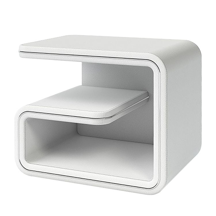 Nachttisch Nima – Kunstleder – Weiß – Rechts stellbar, Bellinzona online bestellen