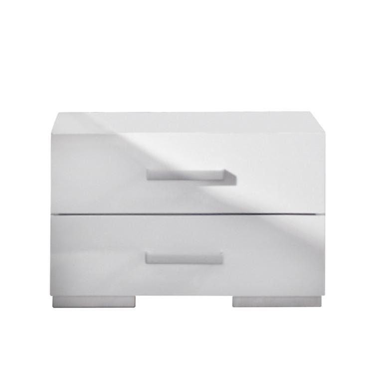 Nachttisch Tira – Alpinweiß/Hochglanz Weiß – 1 Nachttisch, Rauch Select kaufen
