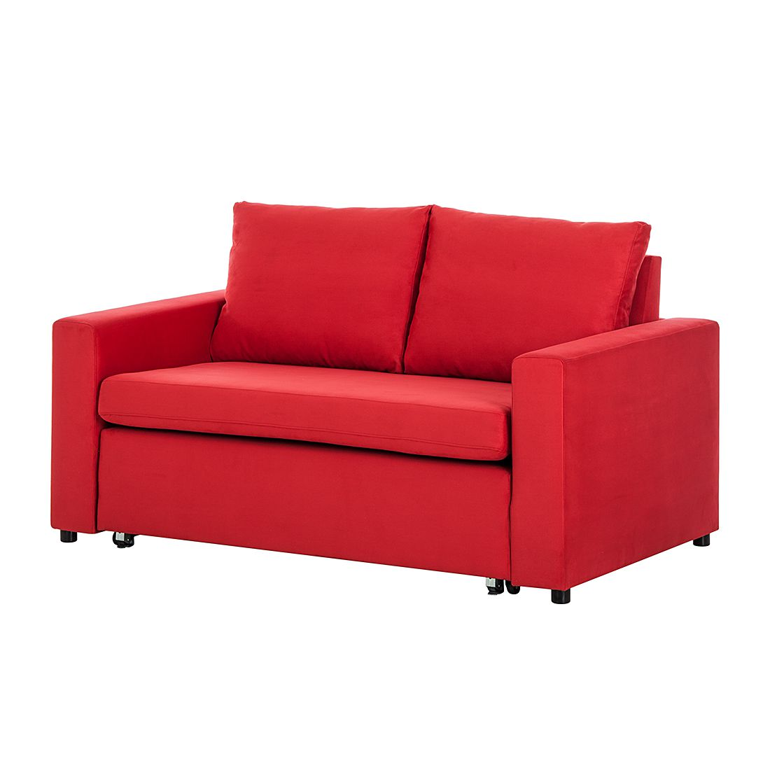 Schlafsofa Latina – Microfaser Rot, roomscape online bestellen