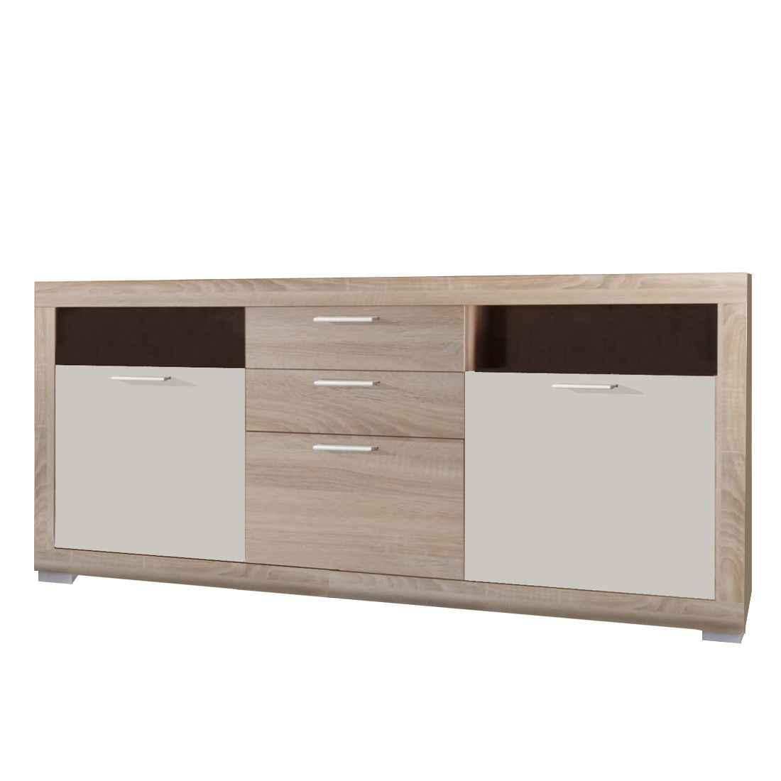 sideboard nimes mit 2 t ren eiche wei. Black Bedroom Furniture Sets. Home Design Ideas