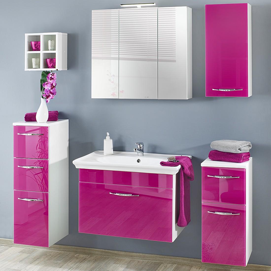 Oberschrank Pixy I – Weiß/Glas Pink, Giessbach kaufen