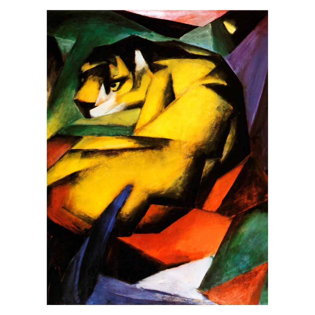 Ölgemälde Der Tiger von Franz Marc – Größe 40 x 30 cm, yourPainting jetzt bestellen