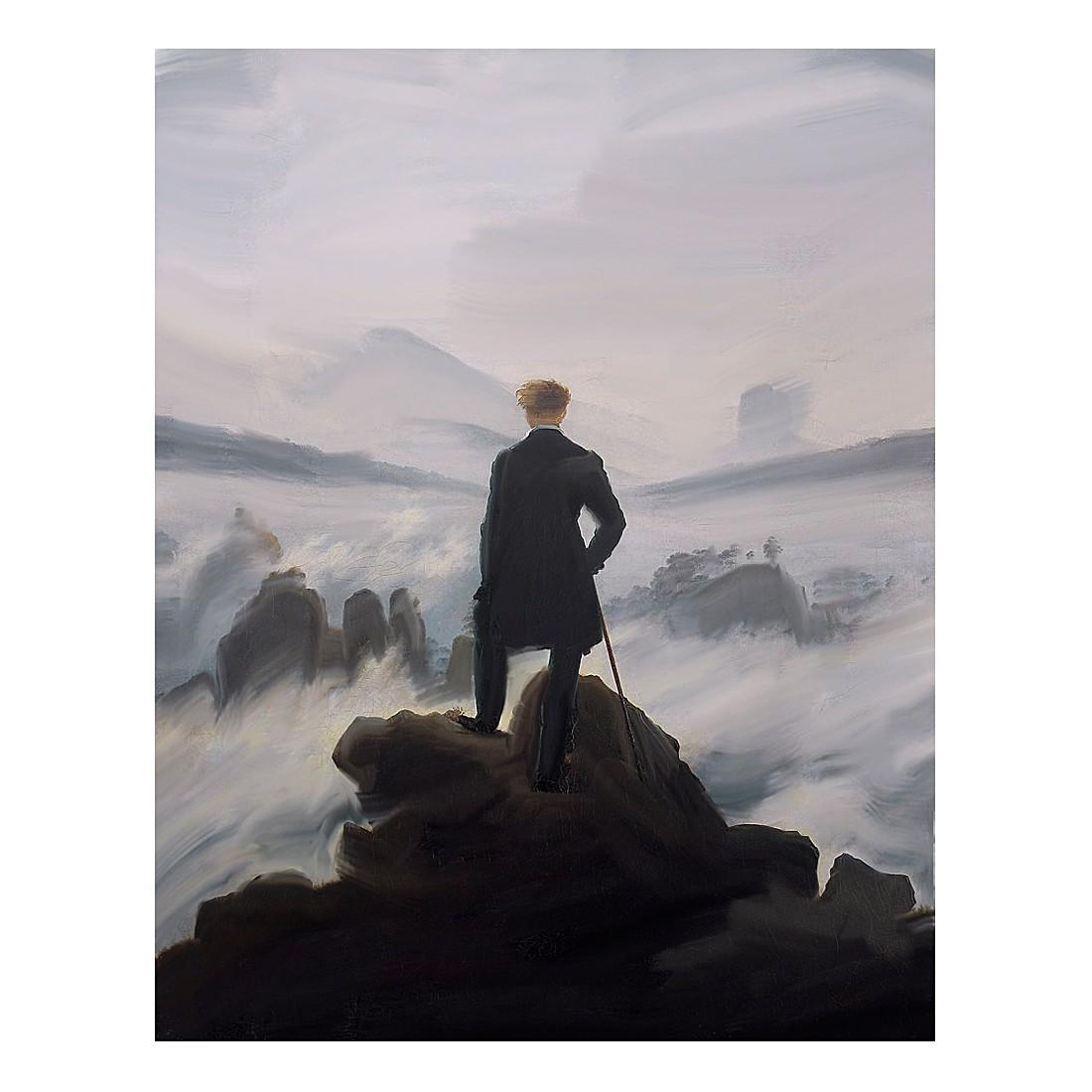 Ölgemälde Der Wanderer über dem Nebelmeer von Caspar David Friedrich – Größe 80 x 60 cm, yourPainting günstig kaufen