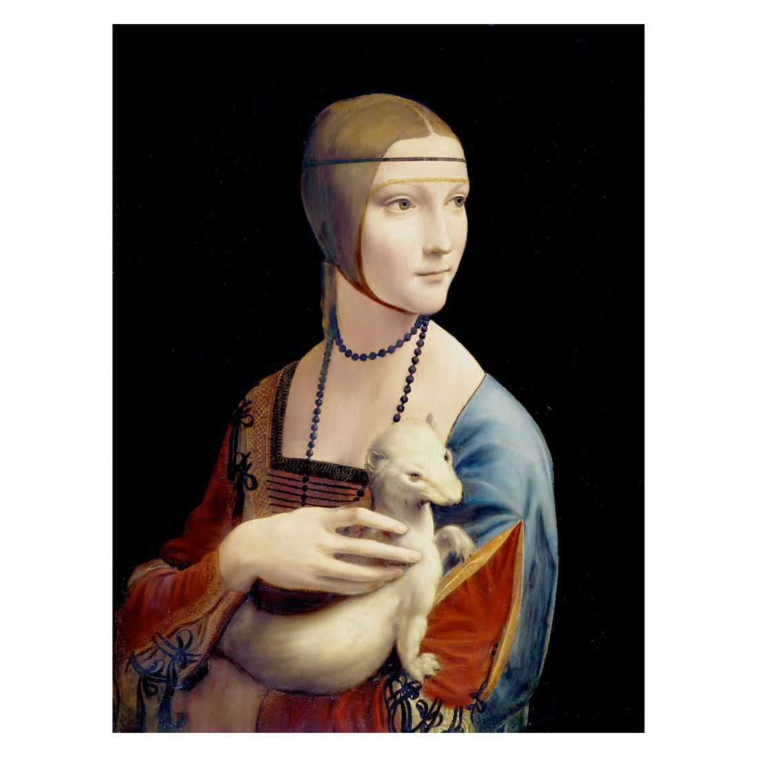 Ölgemälde Die Dame mit dem Hermelin von Leonardo da Vinci – Größe 60 x 40 cm, yourPainting günstig bestellen