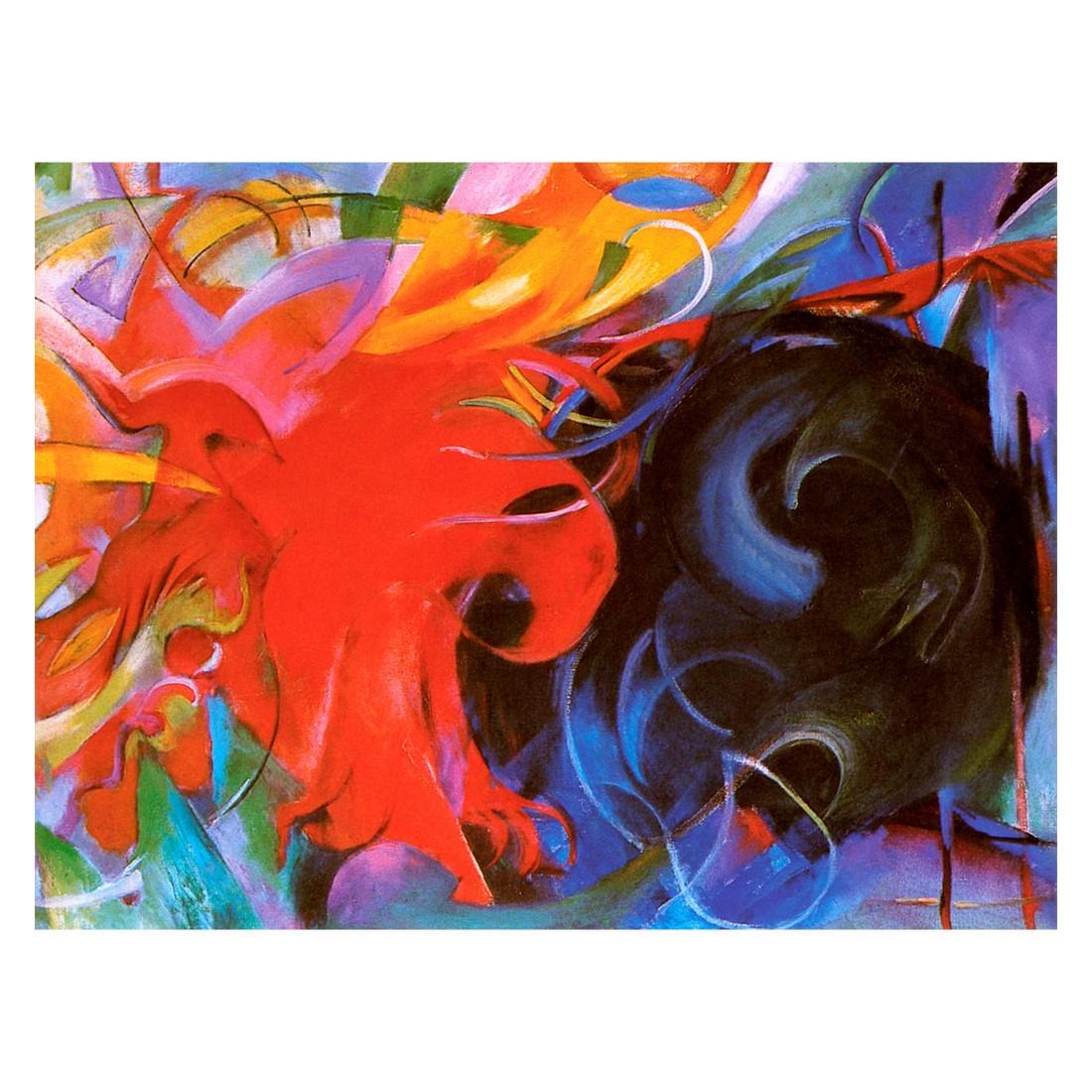 Ölgemälde Kämpfende Formen von Franz Marc – Größe 70 x 100 cm, your Painting jetzt kaufen