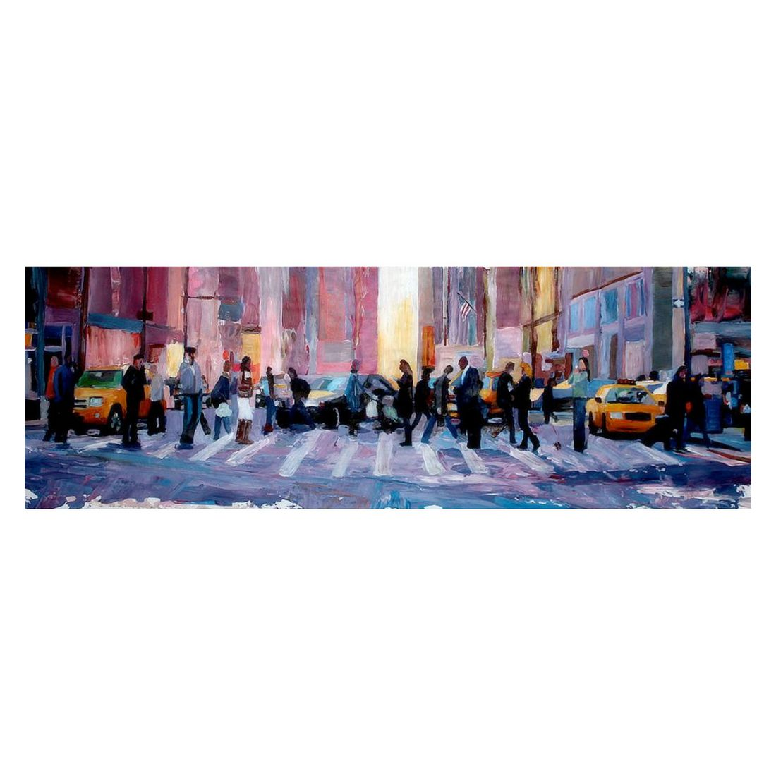 Ölgemälde Mobile Society in New York City von M Bleichner, yourPainting online bestellen