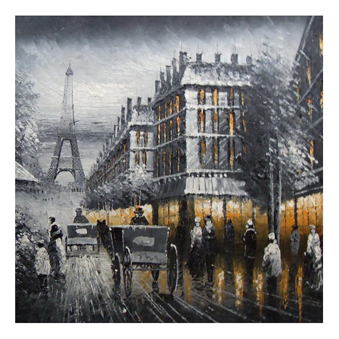 Ölgemälde Schwarzweißes Paris – Größe 70 x 70 cm, yourPainting günstig