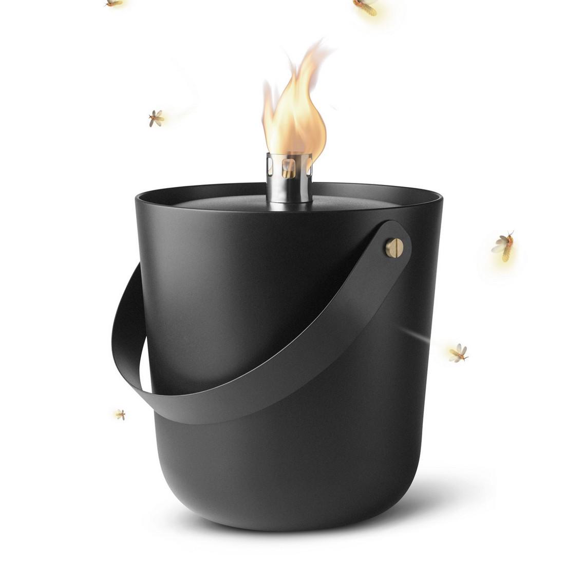 Öllampe Norm Fire Bucket groß – outdoorgeeignet schwarz, Menu günstig online kaufen