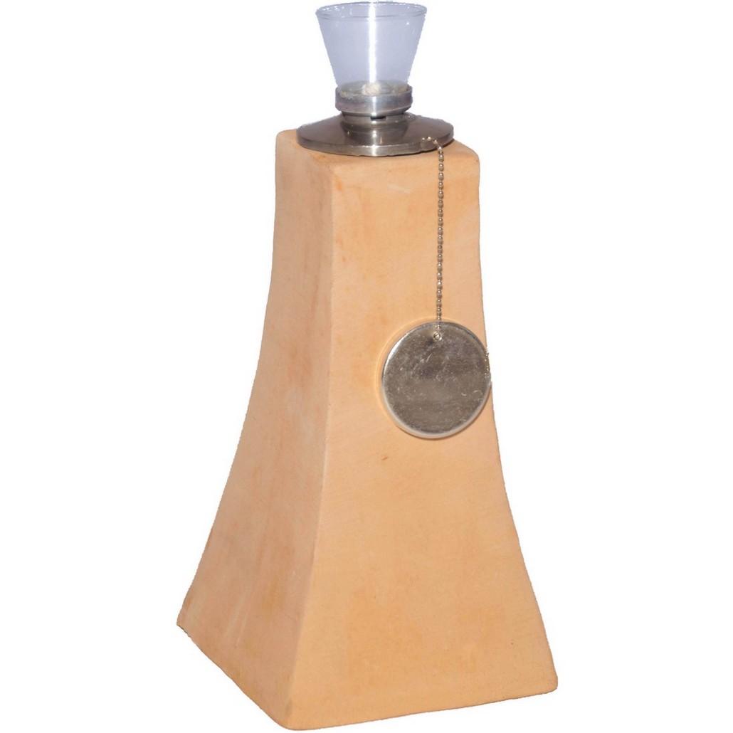 Öllampe – Terracotta – Pyramide – Höhe: 24 cm Breite: 13 cm (einzeln), Helmes Home & Garden bestellen