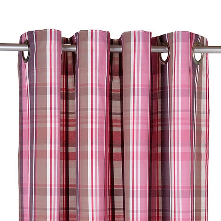 Ösenschal T-New Check – Pink – 140 x 245 cm, Tom Tailor online bestellen