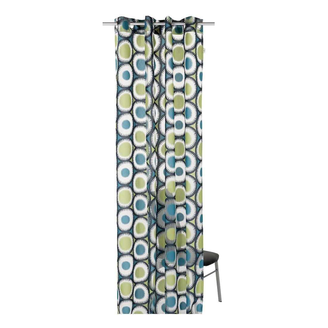 Ösenschal T-Painted Daisy – Blau/Grün – Transparenz: Blickdicht, Tom Tailor online bestellen