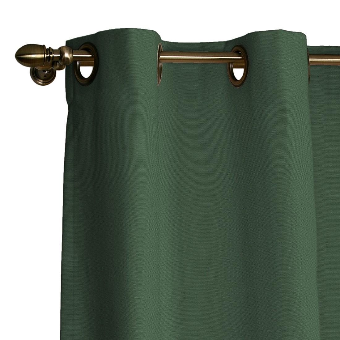 Ösenvorhang Cotton Panama – Tannengrün – 130 x 310 cm, Dekoria günstig