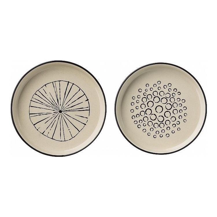Ofenschale – Porzellan – flach – Ausführung: Linien, Bloomingville jetzt kaufen
