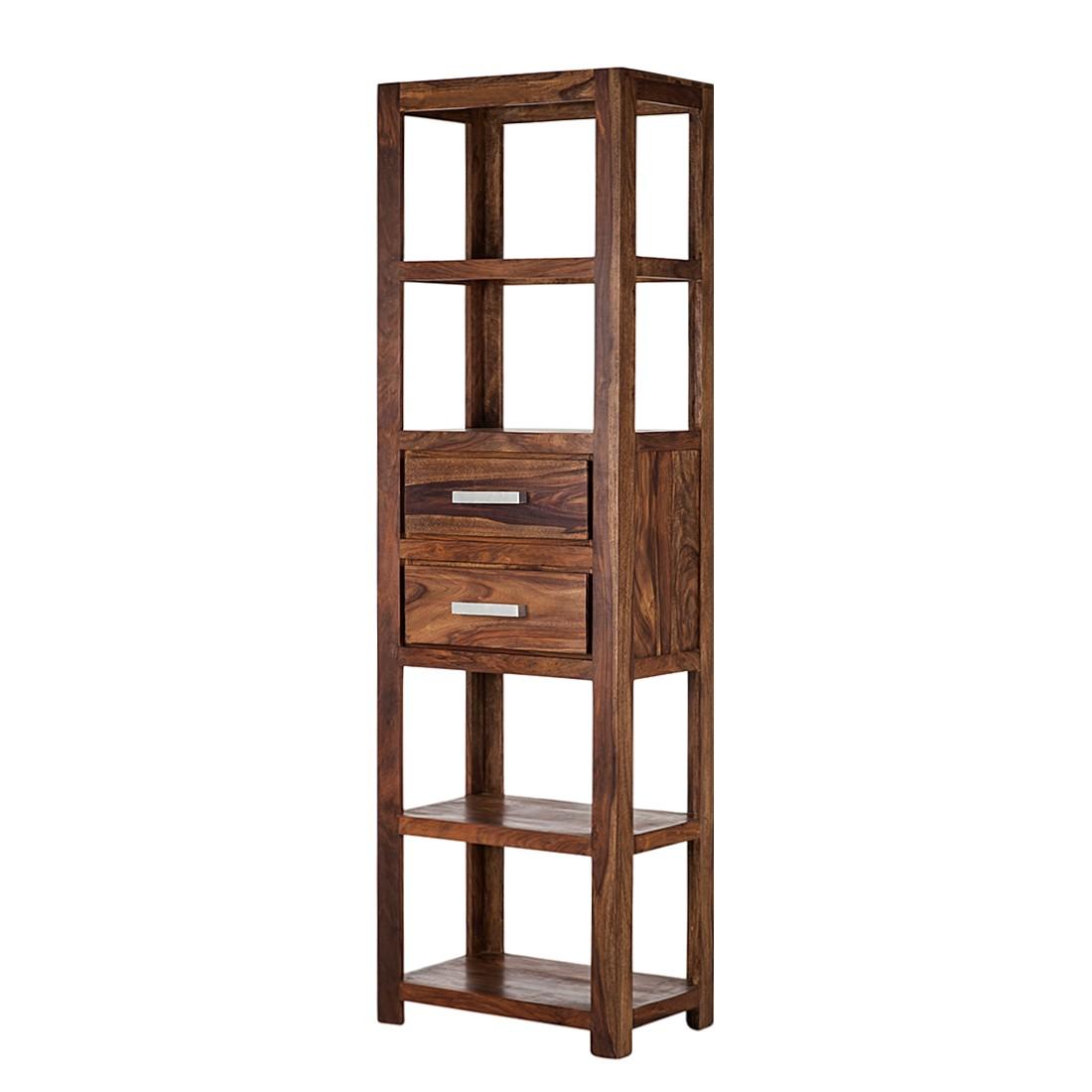 Bücherregal Ohio - Sheesham massiv - gewachst (Breite: 60 cm)