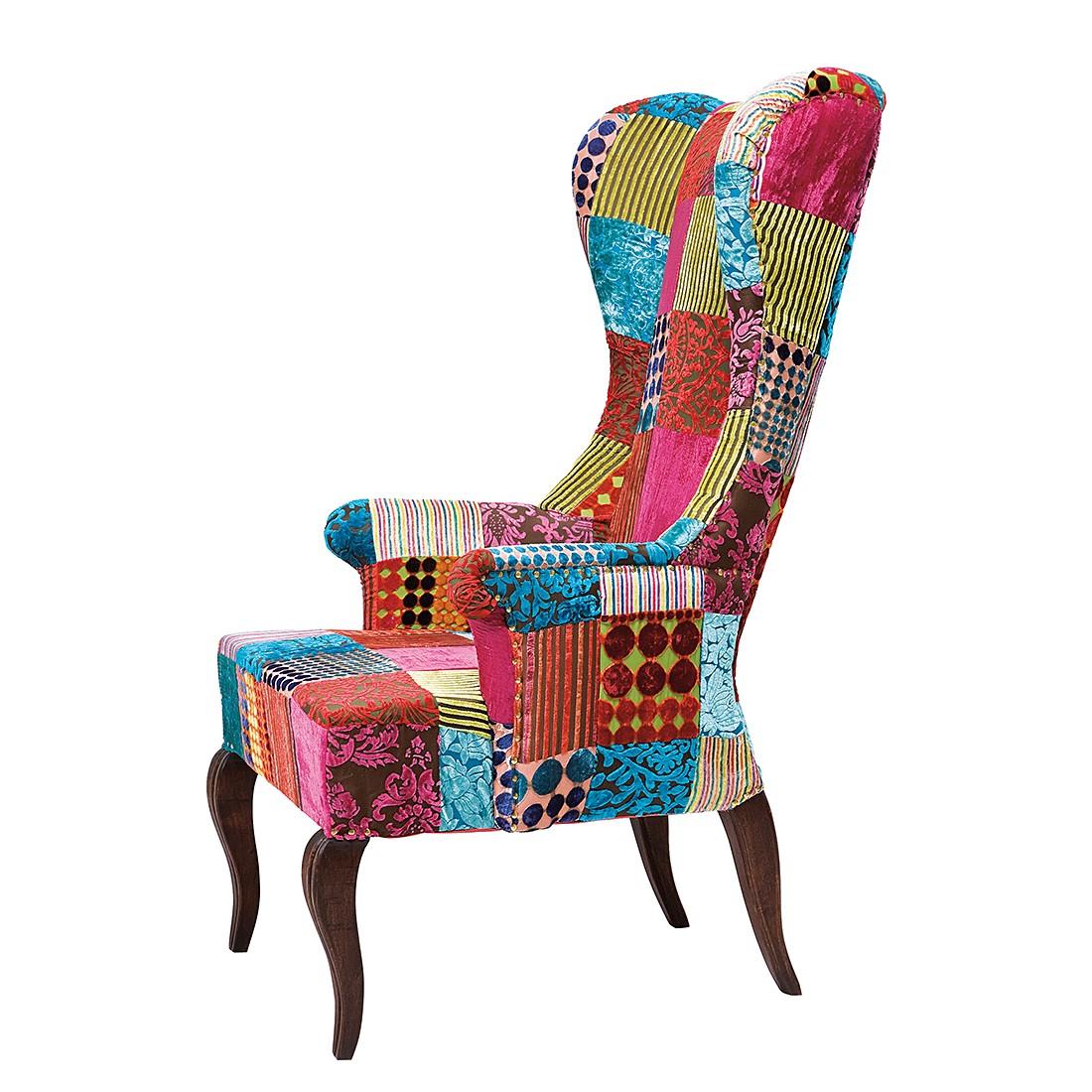 Patchwork elegant fauteuil kare design bont kare design for Ohrensessel patchwork