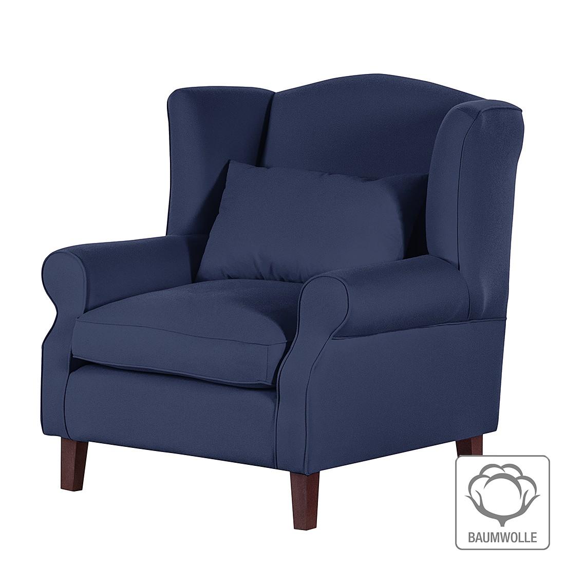 fauteuil oreilles davido tissu en coton gris fonc. Black Bedroom Furniture Sets. Home Design Ideas