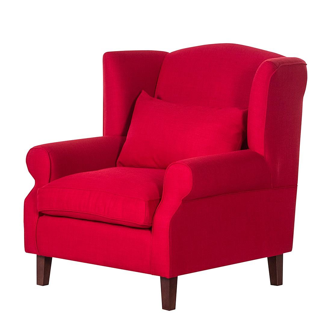 Ohrensessel Sofia – Webstoff Rot, Maison Belfort günstig