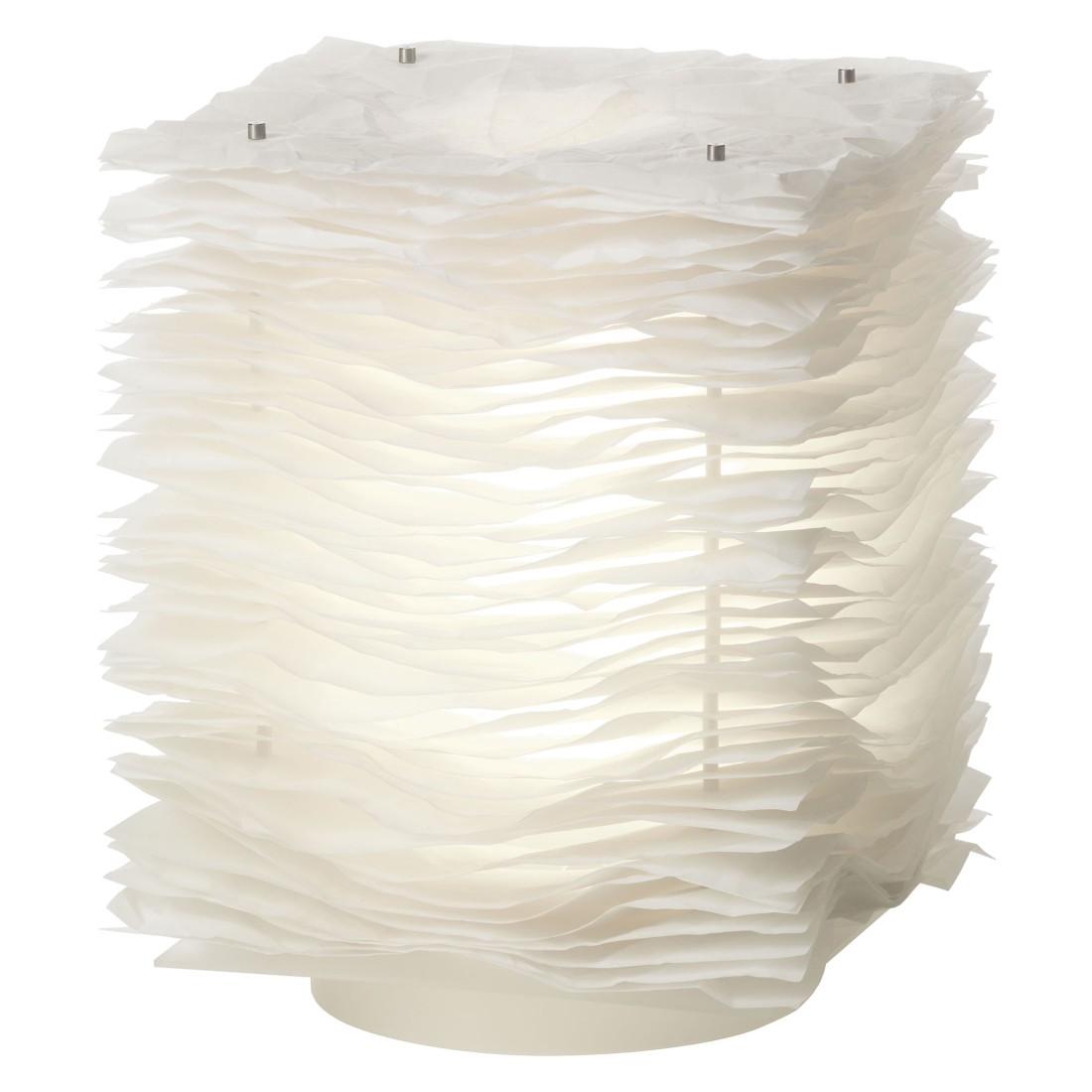 Tischleuchte One by One-05 ● Polyester Weiß- Belux