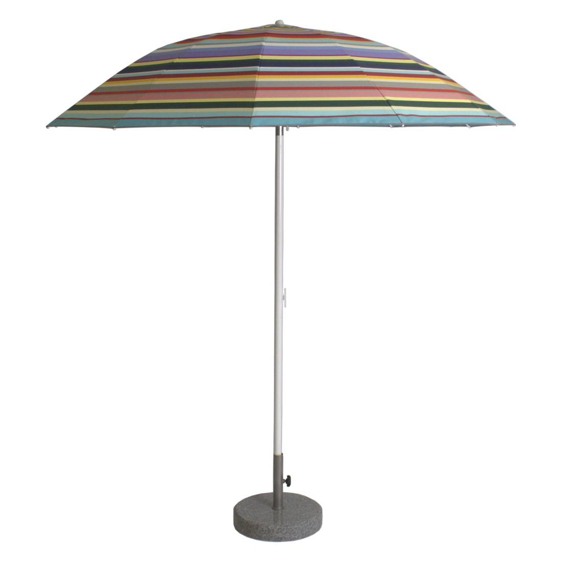 Sonnenschirm Pagodenschirm mit Knickgelenk - Aluminium Multicolor, Weishäupl Werkstätten
