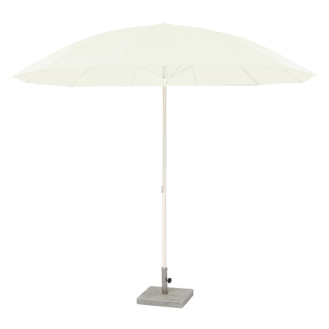 Sonnenschirm Pagodenschirm mit Knickgelenk - Aluminium Natur, Weishäupl Werkstätten
