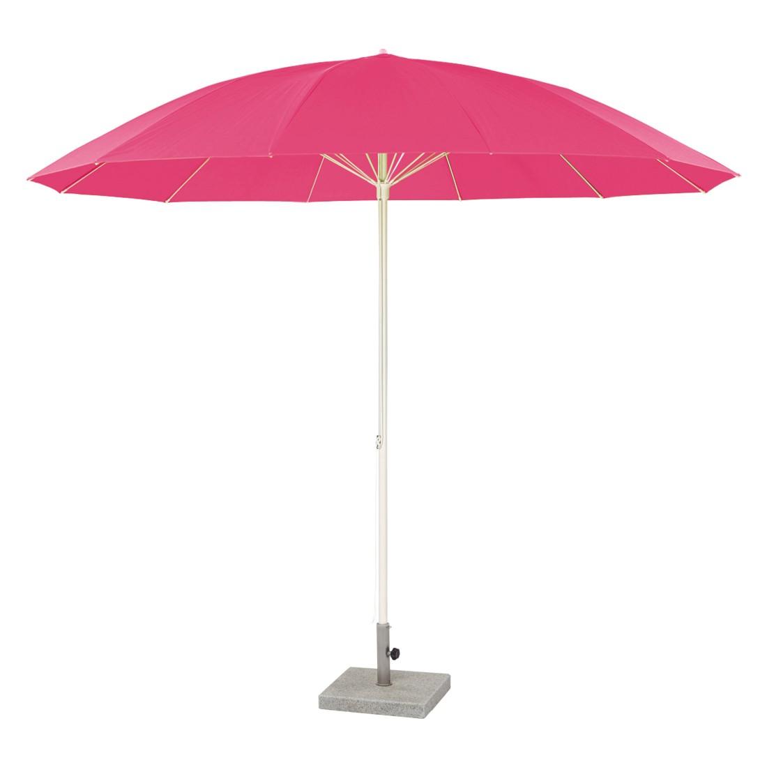 Sonnenschirm Pagodenschirm mit Knickgelenk - Aluminium Pink, Weishäupl Werkstätten