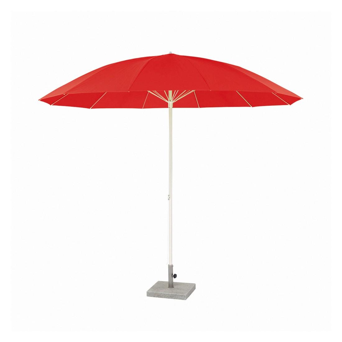 Sonnenschirm Pagodenschirm mit Knickgelenk - Aluminium Rot, Weishäupl Werkstätten