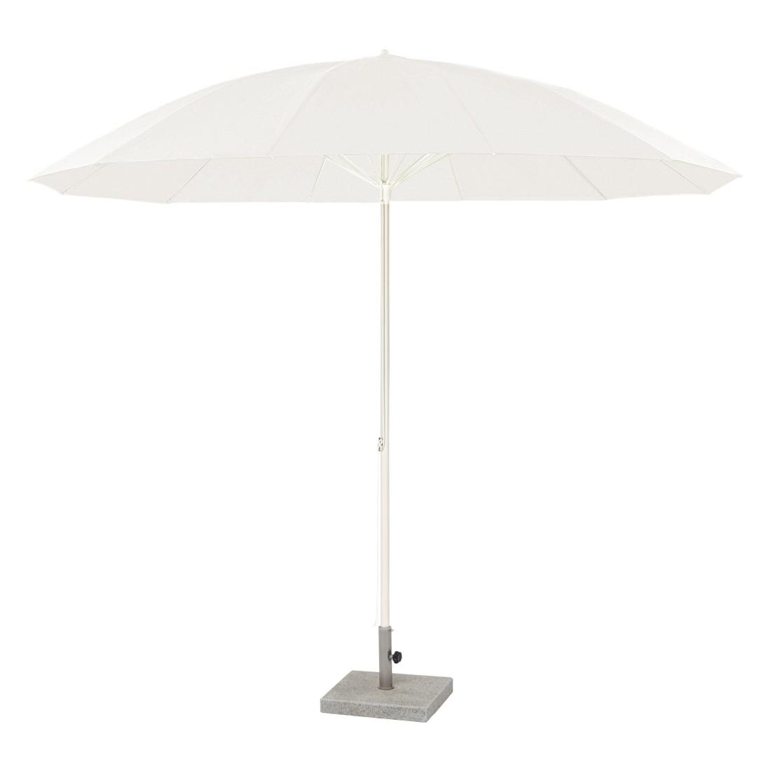 Sonnenschirm Pagodenschirm mit Knickgelenk - Aluminium Weiß, Weishäupl Werkstätten