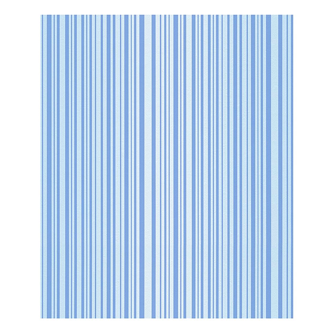 Papiertapete Biene Maya – hellblau – blau – fein strukturiert, Home24Deko günstig online kaufen