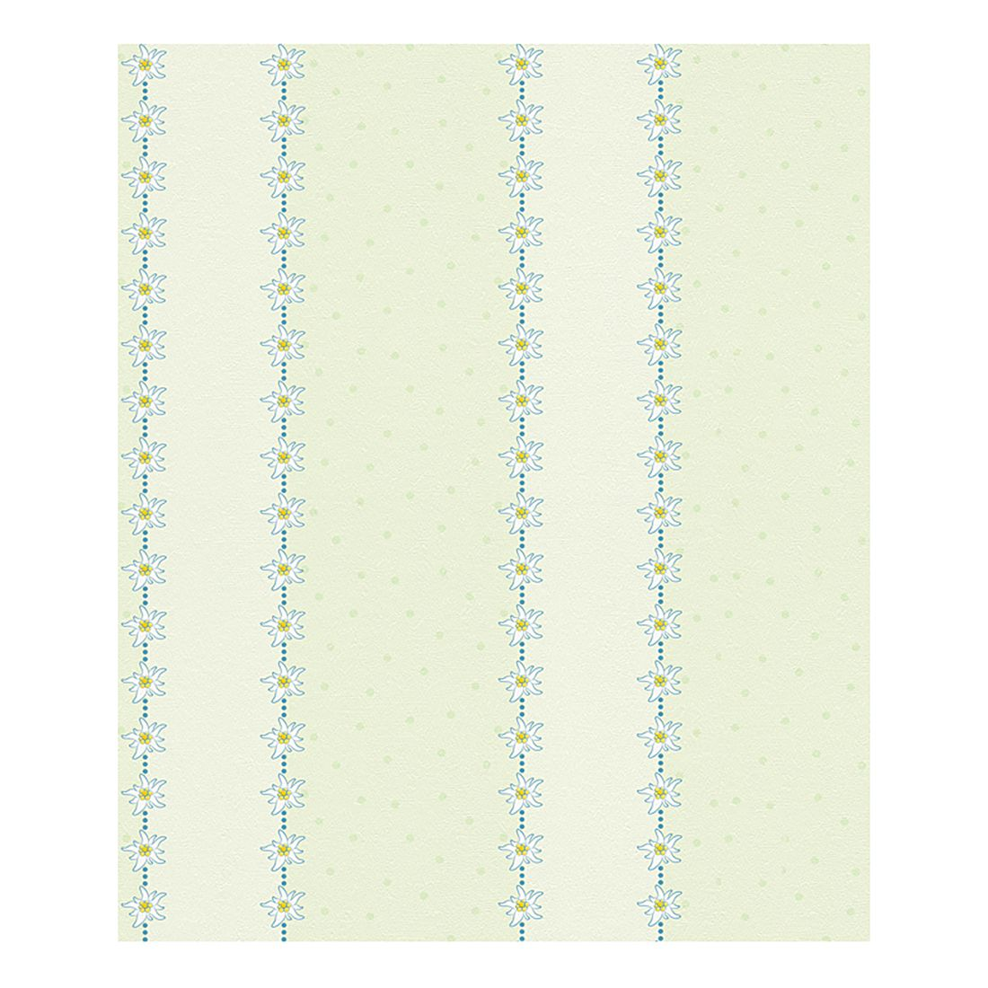 Papiertapete Heidi – pastellgrün – pastellblau – weiß – orange – fein strukturiert, Home24Deko kaufen