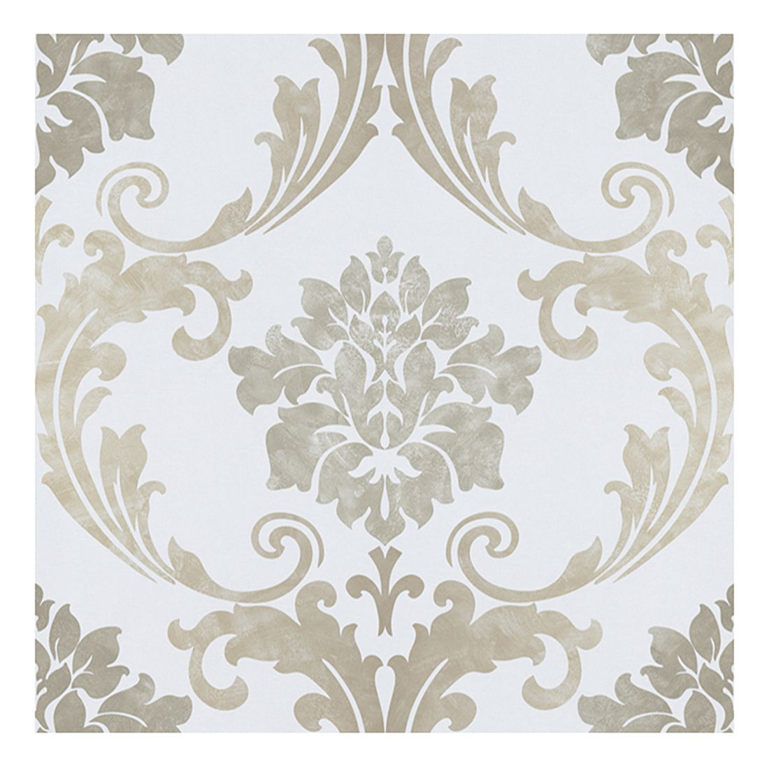Papiertapete New Baroque – hellblau – goldfarben – metallic – glatt, Home24Deko günstig
