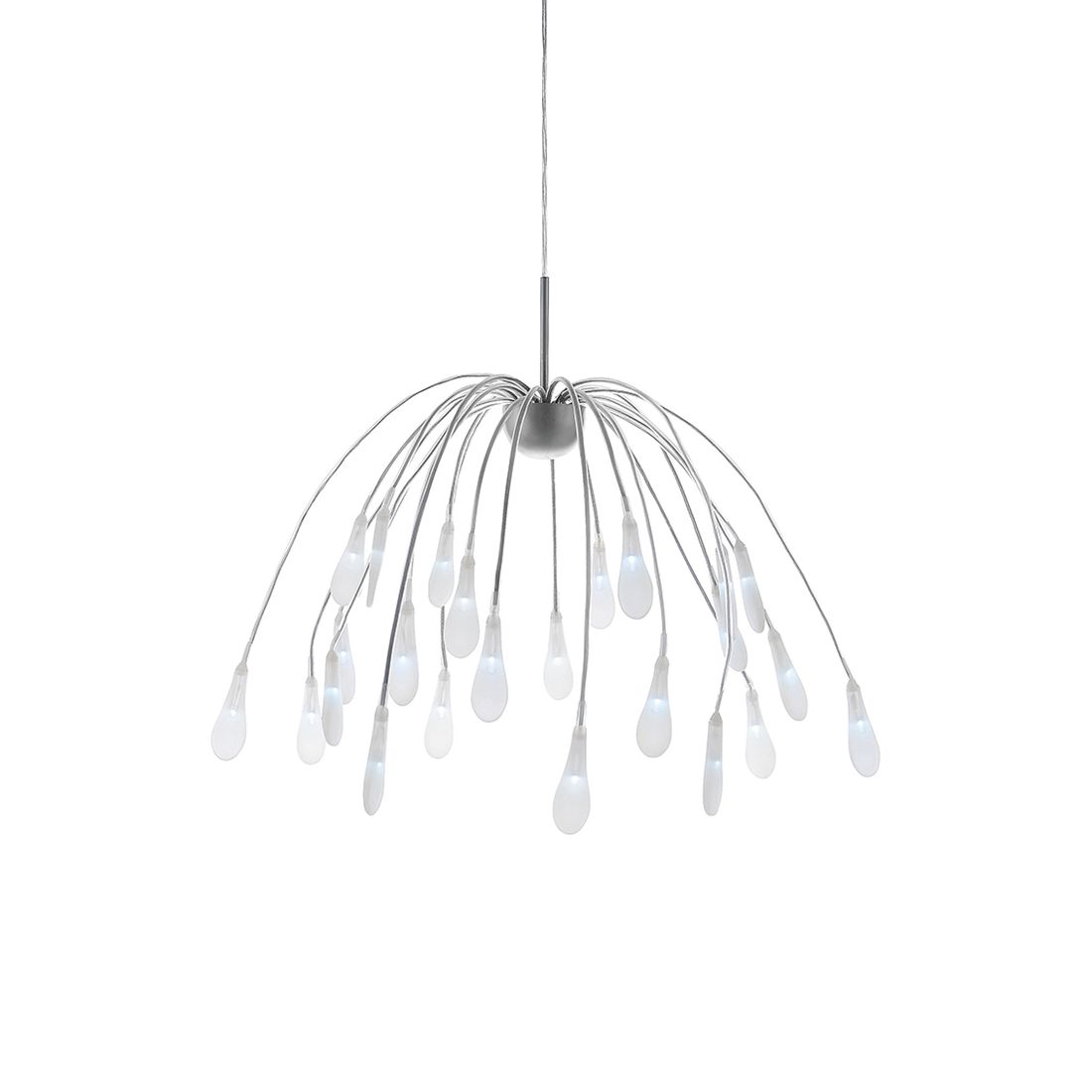 LED-Pendelleuchte Akuma by Leuchten Direkt ● Eisen/Kunststoff ● Silber- Leuchten Direkt A+