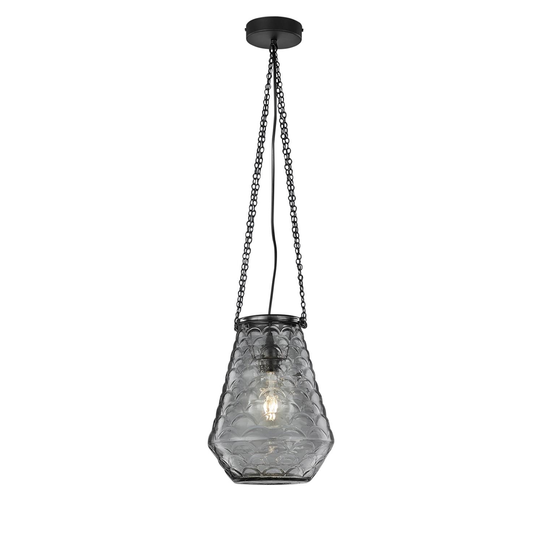 pendelleuchte berta glas metall 1 flammig schwarz trio a g nstig online kaufen. Black Bedroom Furniture Sets. Home Design Ideas