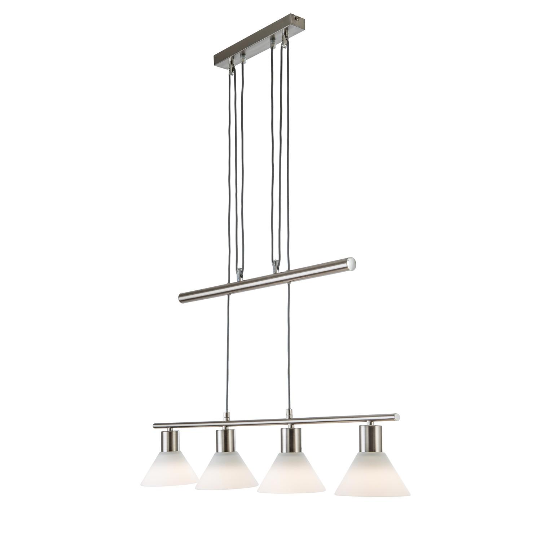 pendelleuchte cleo metall glas 4 flammig nino leuchten a kaufen. Black Bedroom Furniture Sets. Home Design Ideas