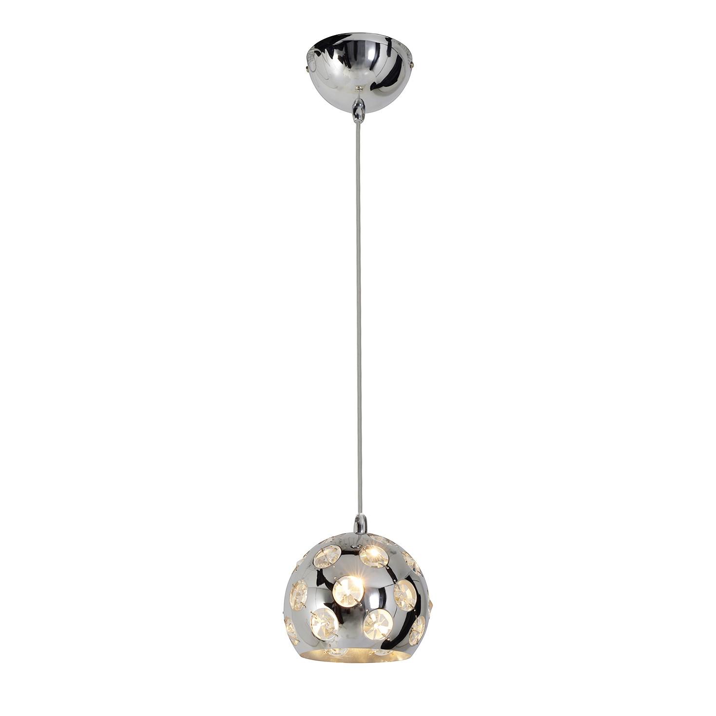 Pendelleuchte Diamond by Näve ● Metall/Kunststoff ● Silber ● 1-flammig- Näve A++