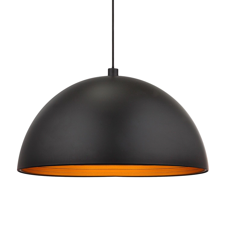 pendelleuchte earth aluminium 1 flammig schwarz gold. Black Bedroom Furniture Sets. Home Design Ideas