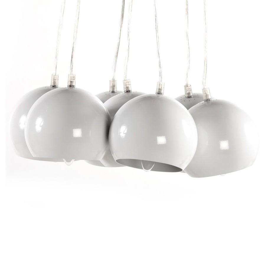 EEK A++, Pendelleuchte Eklektik – Stahl Weiß, Kokoon günstig kaufen