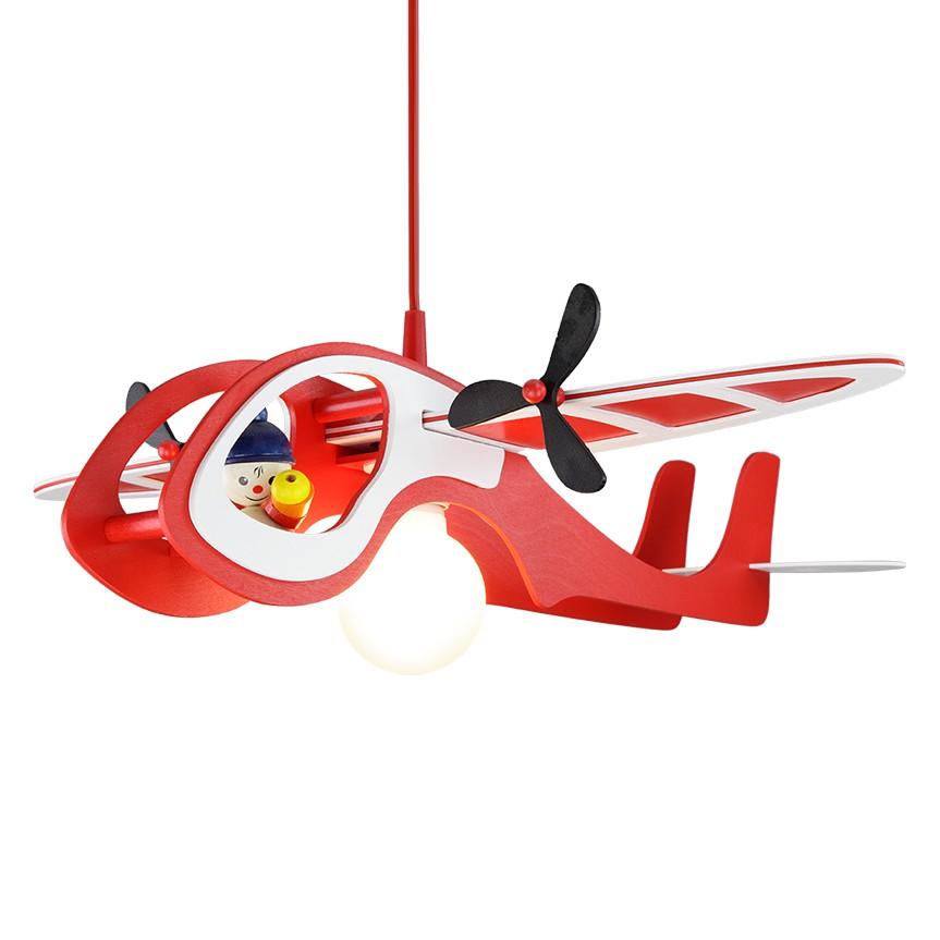 Pendelleuchte Flugzeug Kasper ● Holz ● 1-flammig- Elobra A++
