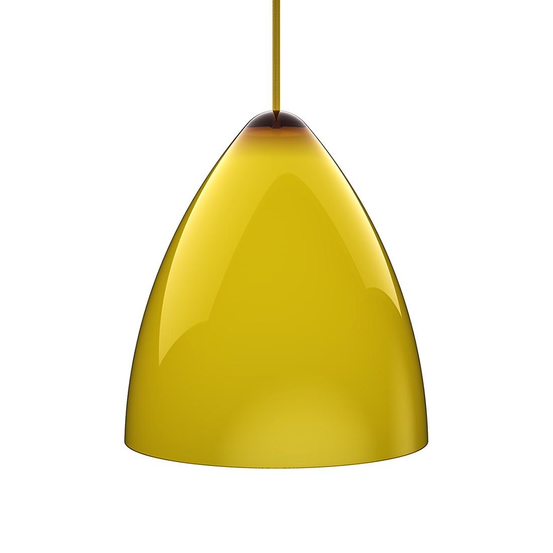 Pendelleuchte Funk - Acrylglas-Textil - Gelb-Gelb - Durchmesser 27 cm, Nordlux