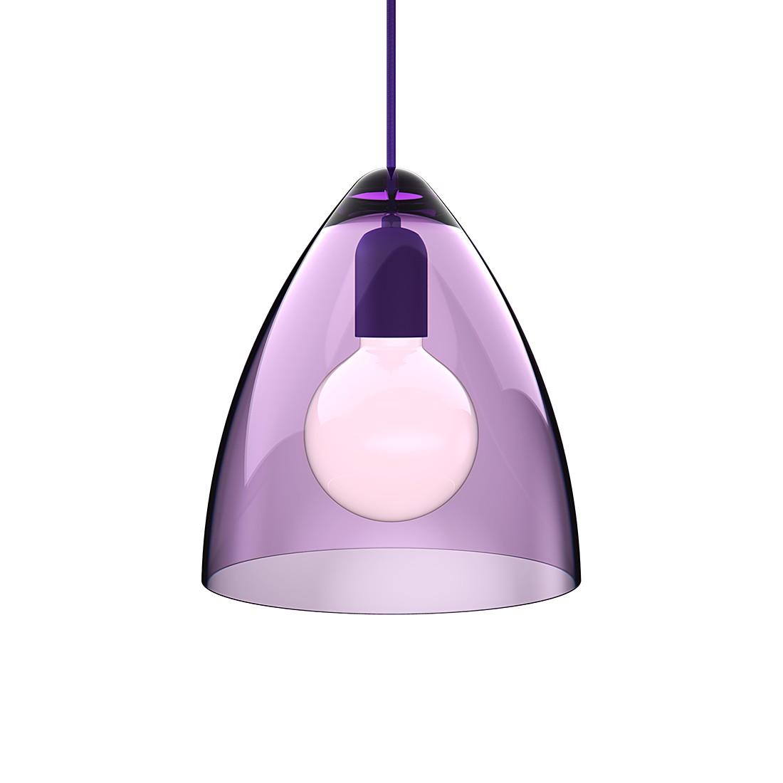 Pendelleuchte Funk – Acrylglas/Textil – Transparent Lila/Lila – Durchmesser 27 cm, Nordlux günstig