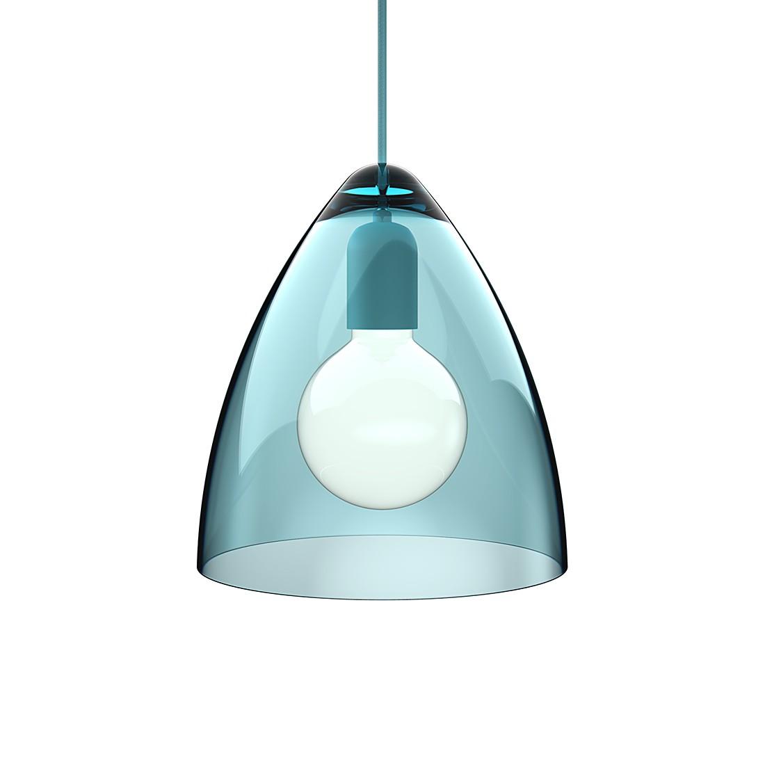 Pendelleuchte Funk - Acrylglas-Textil - Transparent Tuerkis-Tuerkis - Durchmesser 27 cm, Nordlux