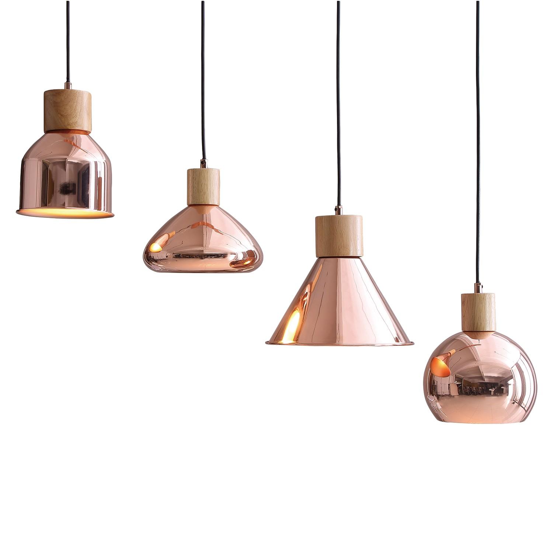 energie  A++, Hanglamp Galveston - ijzer/massief beukenhout - 4 lichtbronnen, Loistaa