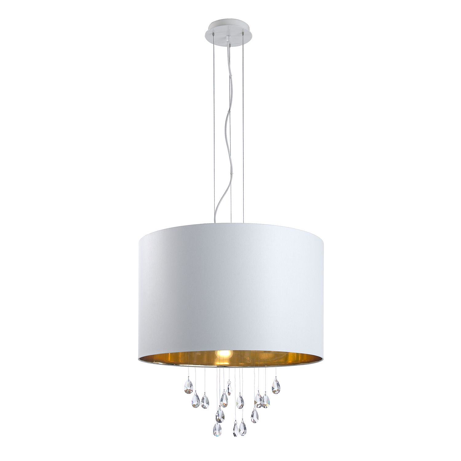 Pendelleuchte Grace by Lampadina ● Metall/Glas ● Gold ● 5-flammig- Lampadina