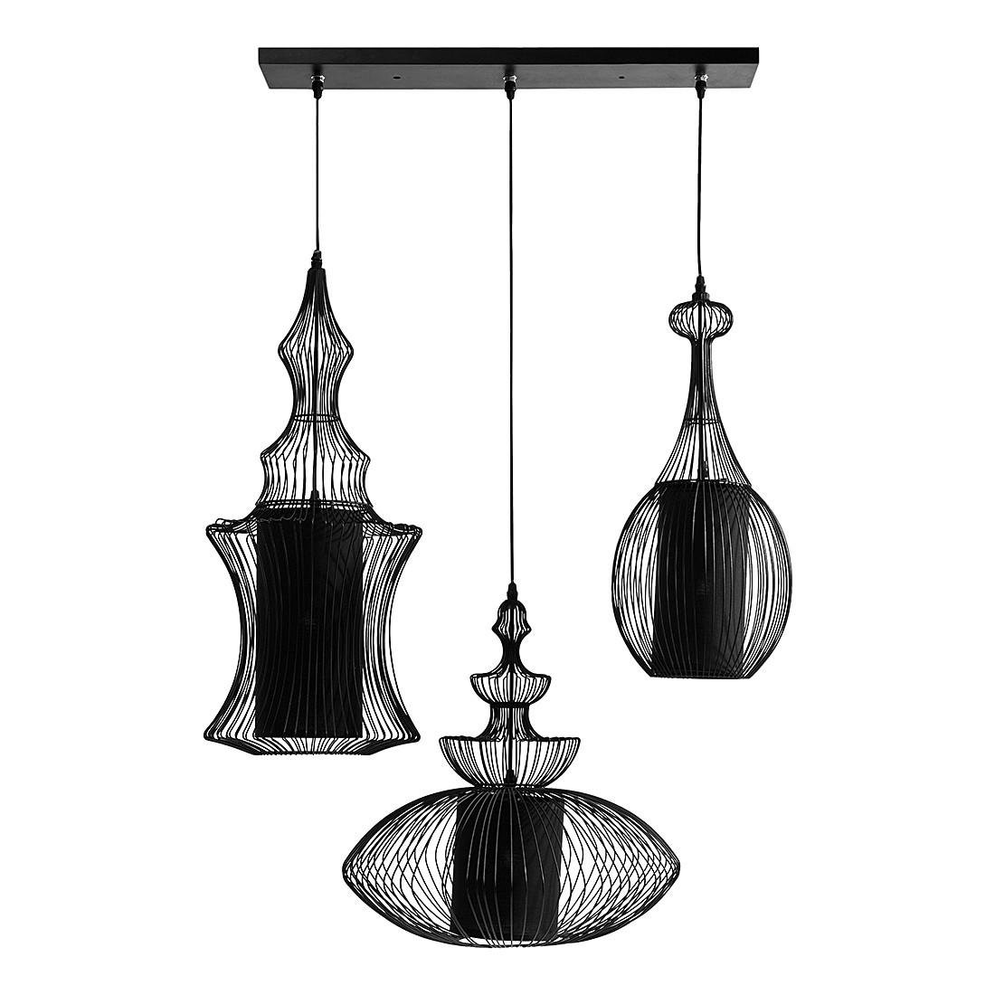 EEK A++, Pendelleuchte HL Swing Iron Tre – Metall/Kunststoff – 3-flammig, Kare Design jetzt kaufen