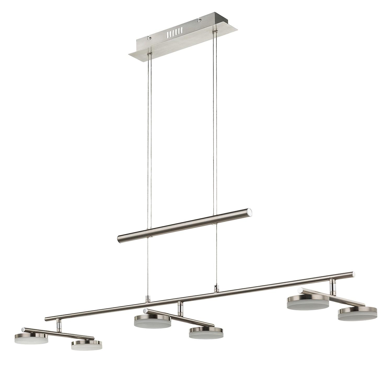 EEK A+, LED-Pendelleuchte Hook - Metall / Acrylglas - 6, Wofi